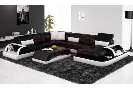 Grand canapé d'angle design ODAMANA XL