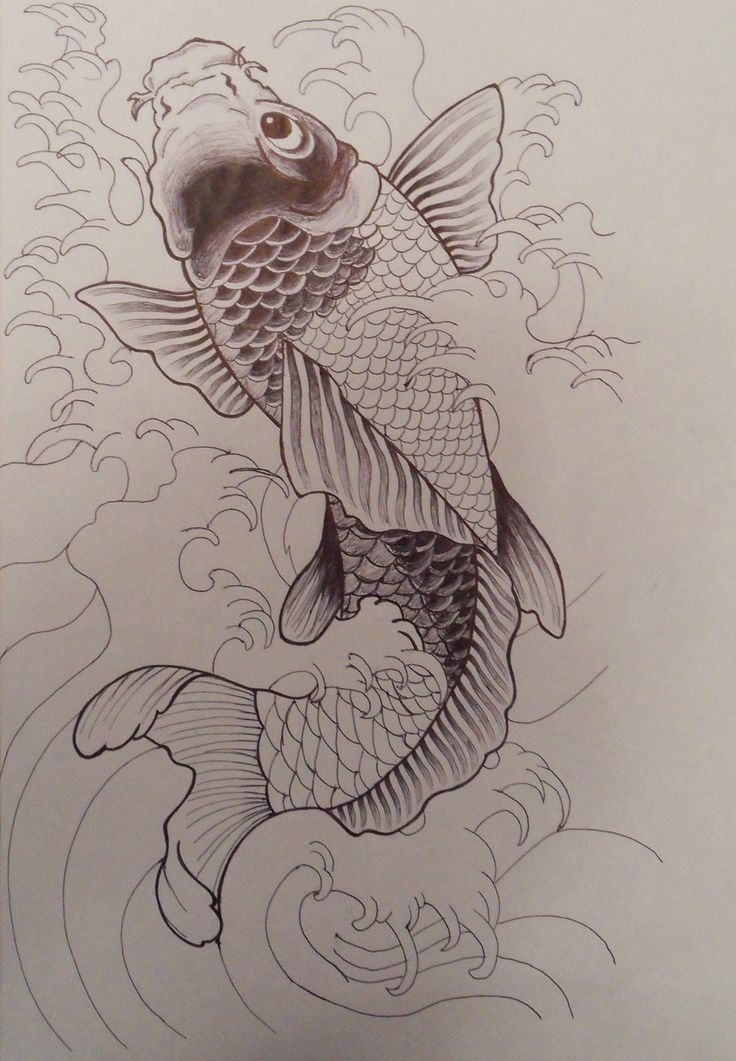 Unfinished koi fish by on for Koi carp art
