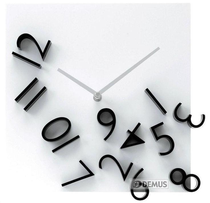 Zegar ścienny Karlsson Falling Numbers KA5037 \ Zegary \ Zegary ścienne \ sklep :: DEMUS.pl