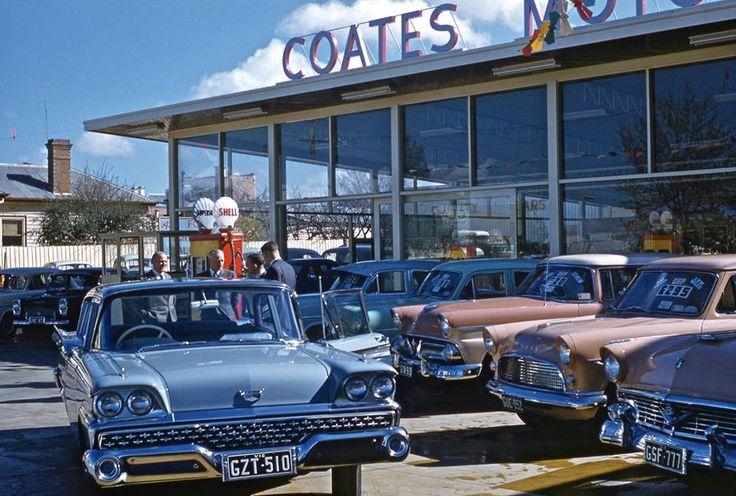 Coates Motors, Bairnsdale, Australia, 1959 Kodachrome http://www.shorpy.com/node/12930?size=_original#caption