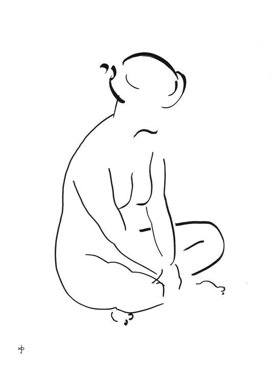 Buy Nude Line W1711Z, Ink drawing by David Jones on Artfinder. Discover thousands of other original paintings, prints, sculptures and photography from independent artists.