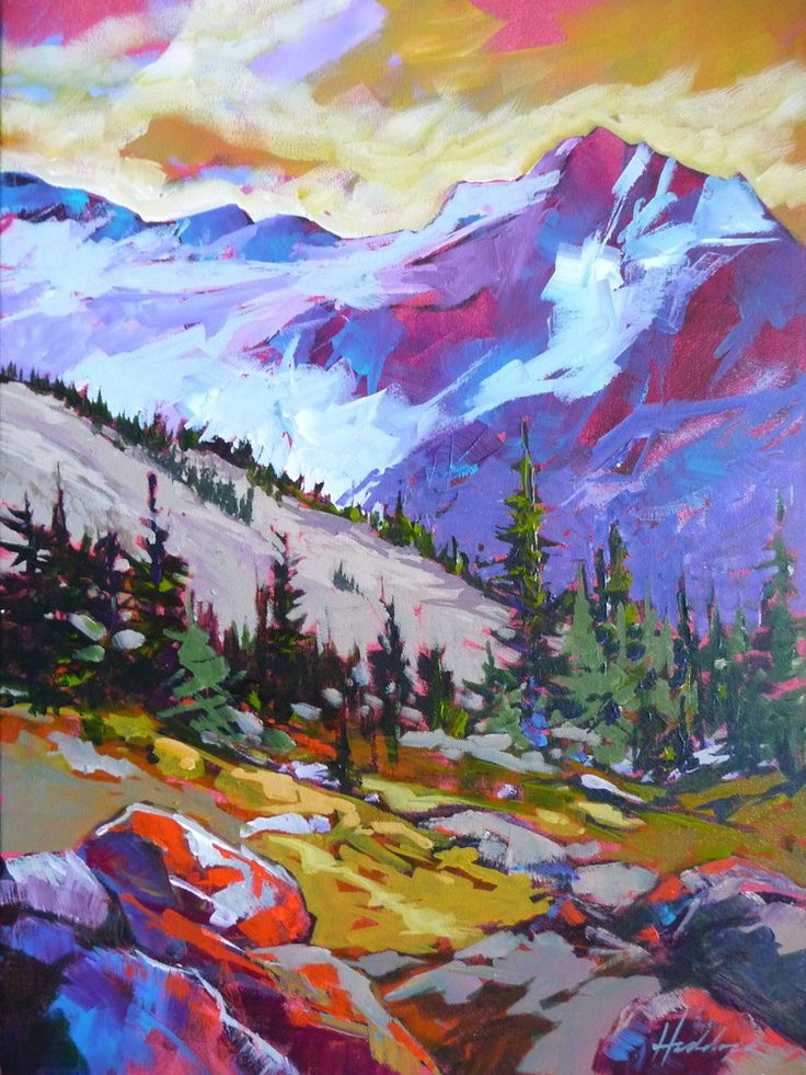 "24""x18"" Acrylic on canvas. Whistler Mountain, BC.  Available at the Village Gallery, Sidney, BC"
