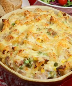 This delicious meal is one which everyone will love, especially kids who tend to adore anything with a cheesy sauce. This comfort food is very healthy, offering vitamin D, vitamin B12, and protein. You can also freeze it so perhaps you wish to double to recipe and serve one but freeze the other. That way you will have a delicious dinner to thaw out whenever you want it.