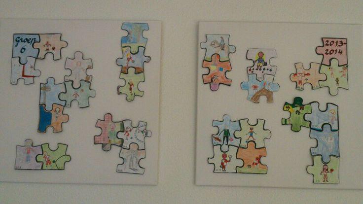 Samen kunst maken, met alle kinderen van de klas.