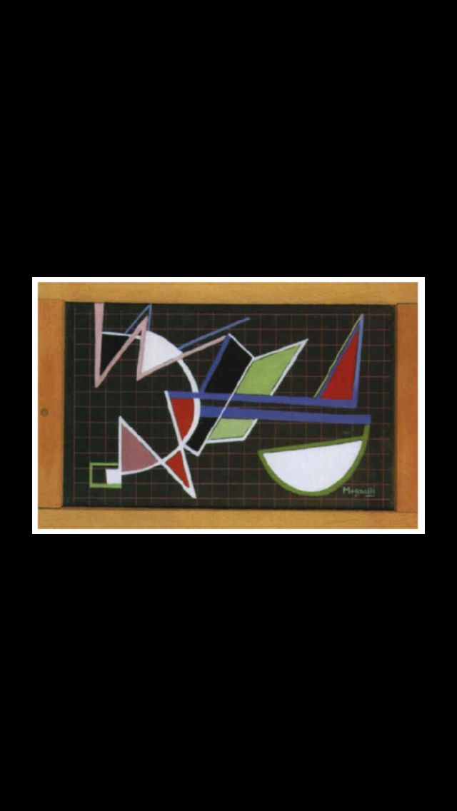 "Alberto Magnelli - "" Ardoise "", 1942 - Gouache - 18 x 25,8 cm"
