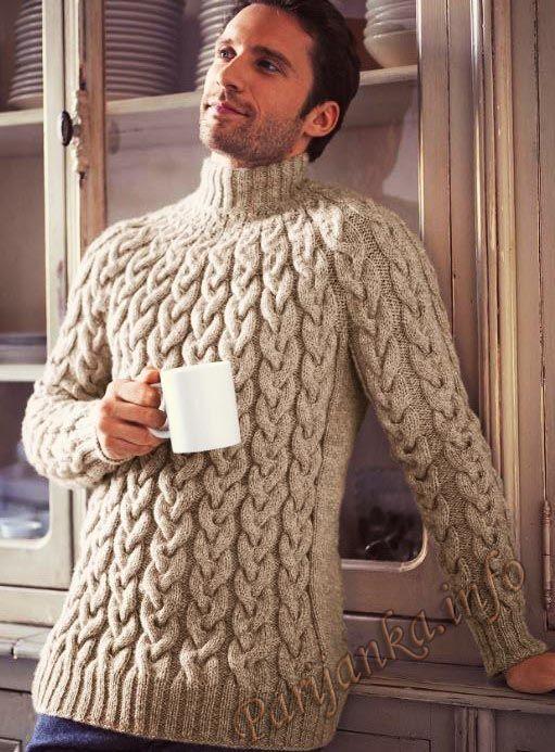 Пуловер с косами (м) 152 Creations 15/16 Bergere de France №4771