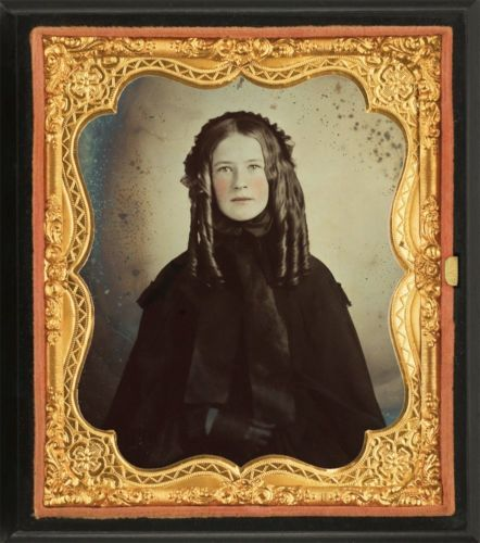 6th Plate Ambrotype Gorgeous Woman Fantastic Ambrotype Union Case | eBay