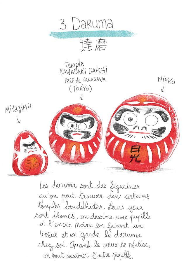 japan, daruma, illustration