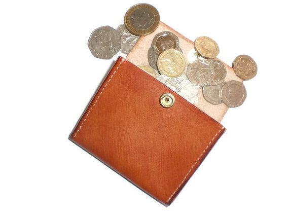 Leather Coin Purse Leather Coin Holder Leather Coin by UKHandcraft