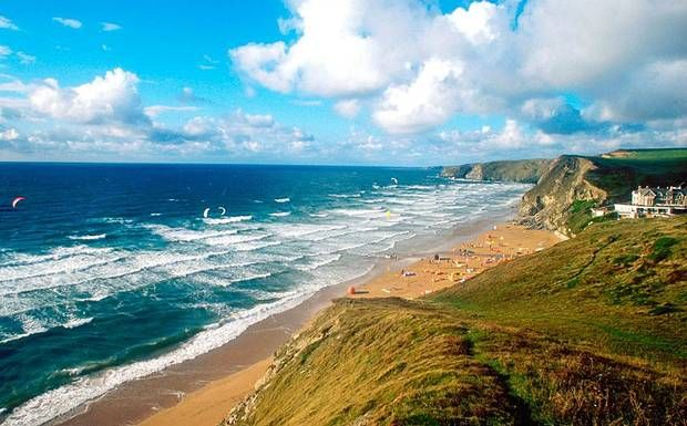 Watergate Bay, in Cornwall, is a glorious stretch ideal for watersports enthusiasts and the more sedate alike.