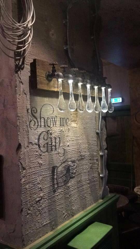 Edinburgh's new gin bar 'The Jolly Botanist'. tap lights