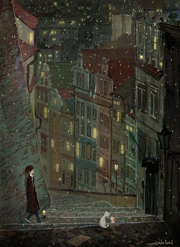 .   나의 어릴 적 꿈에서처럼  이 차가운 도시에 별들이 내려와 꽃을 피운다면 그대와 다시 사랑할 수 있을까   2015.02.11 별 中  .