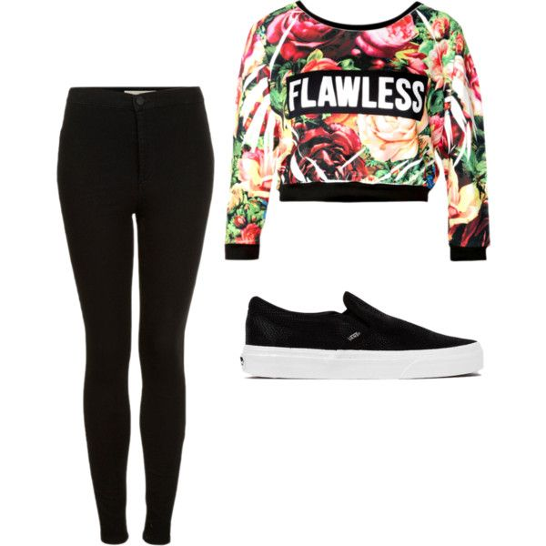 look1 by ana-luiza-mafra on Polyvore featuring moda, Topshop and Vans