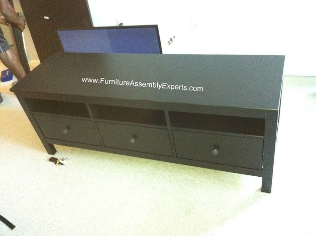 Hemnes Dresser As Tv Stand : ikea Hemnes tv stand assembled in Baltimore MD by Furniture Assembly