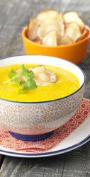 Wortel-pastinaaksoep met sinaas en gember - Colruyt Culinair