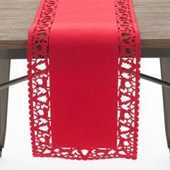 FELT XMAS TABLE RUNNER IN RED COLOR 30X120