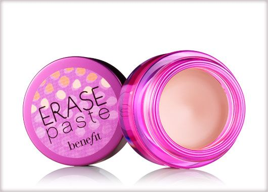"Erase Paste from Benefit - Best concealer I've tried to date for covering up dark under eye circles. It's nice and thick, so a little goes a long way and the little jar has lasted me more than a year. The ""fair"" shade is even light enough for my pale skin."