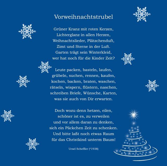 Besinnliche Kurze Weihnachtsgedichte.Weihnachtsgedichte Fur Karten