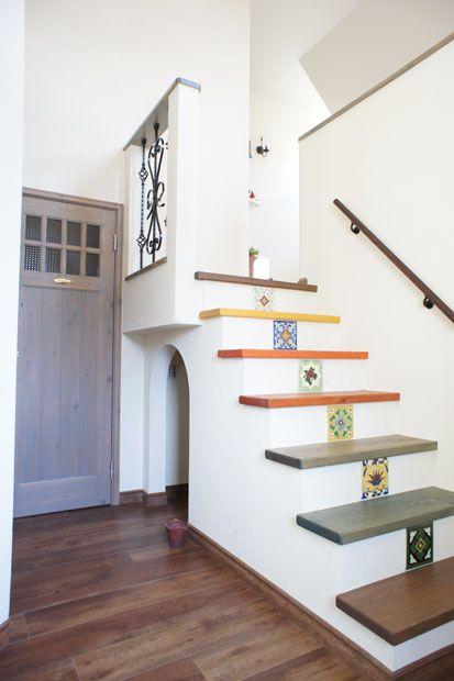注文住宅 かっこいい工務店 オーダーメイド ミューズ建築工房 ショールーム兼オフィス 自然塗料の階段材