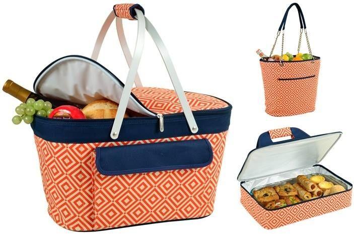 Diferentes colores y diseños en nuestras canastas Y bolsos térmicos. Ideales para los paseos en esta Semana Santa!