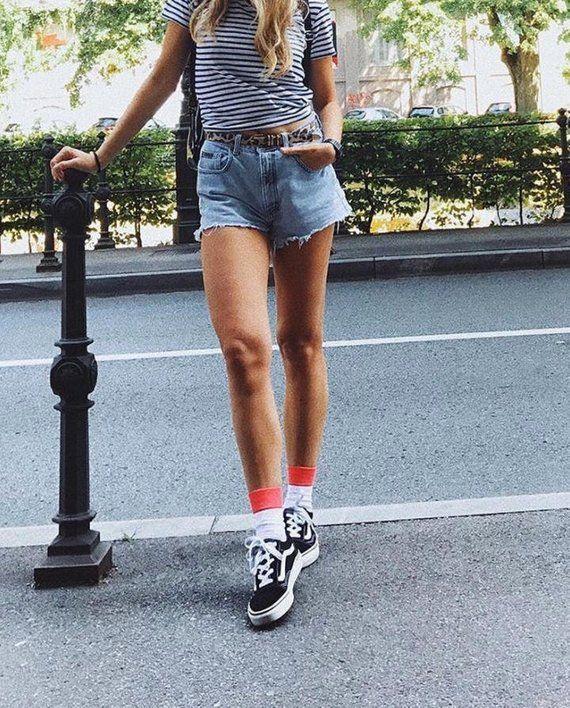 Simple White Socks Modern Socks Tennis Socks 80s Style Etsy Fashion Fashion Inspo Outfits Modern Socks