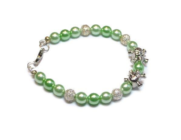 Armband skully groen   Halloween Sieraden   Beads Creations Kralen en Sieraden