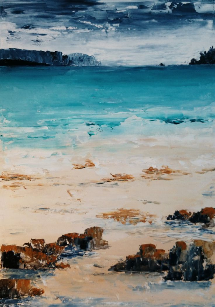 A continuation of the coastal theme in my palette knife work. Safety Cove is at the mouth of the harbour at Port Arthur, and looks out along the coast to the distant Tasman Island. It's a beautiful...