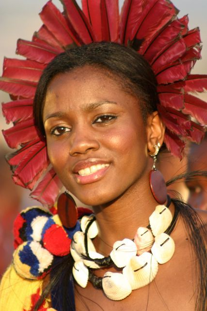 Maiden, Umhlanga Reed Dance ~ annual festival at Ludzidzini Royal Homestead, Lobamba, Kingdom of Swaziland....