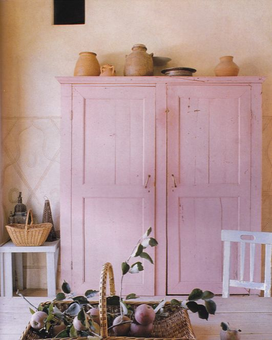 Kitchen cupboard in Tuscan Residence. Image from Sept. 2002 Issue