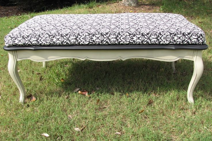 Black and Cream Bench $225 - Suwanee http://furnishly.com/catalog/product/view/id/3126/s/black-and-cream-bench/