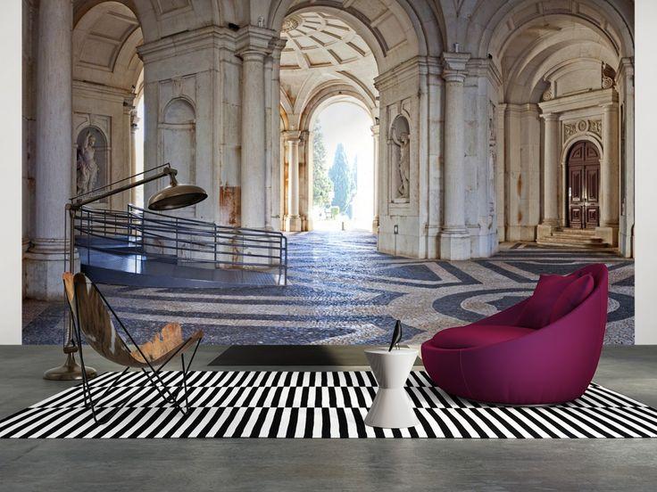 steintapete braun beige wohnzimmer lecker on moderne deko ideen ...