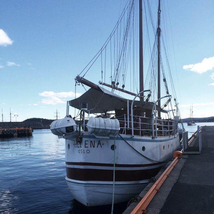 A boat in Oslo