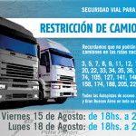 Restricción a la circulación de camiones por fin de semana