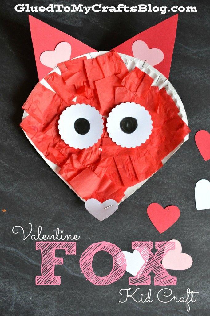 Paper Plate Valentine Fox {Kid Craft}