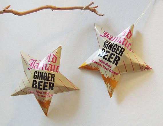 Old Jamaica Ginger Beer Stars Christmas Ornaments  by LizardSkins, $12.00