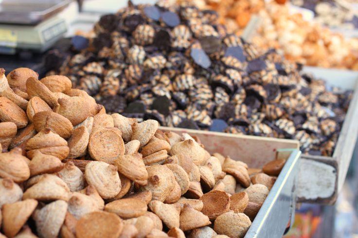 Passover cookies in Mahne Yehuda open market - Jeruaslem, Israel