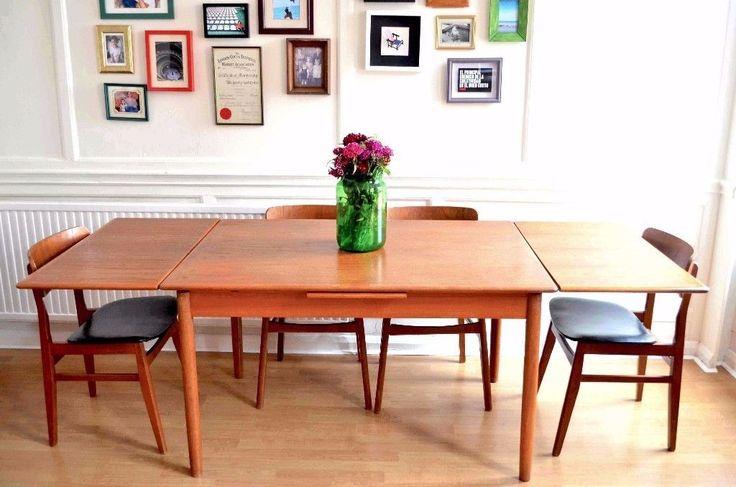 120 x 82cm  210cm open £540 w/ chairs