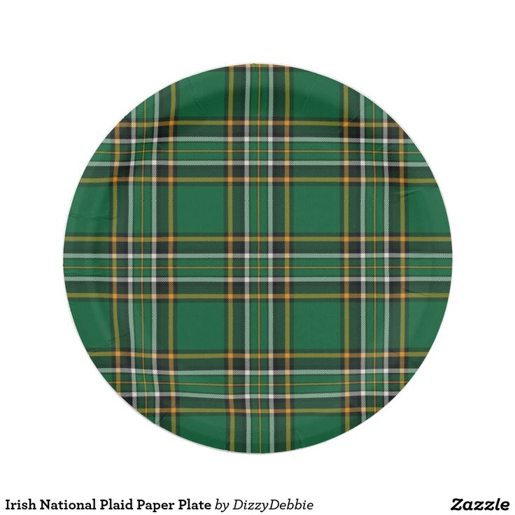 Irish National Plaid Paper Plate