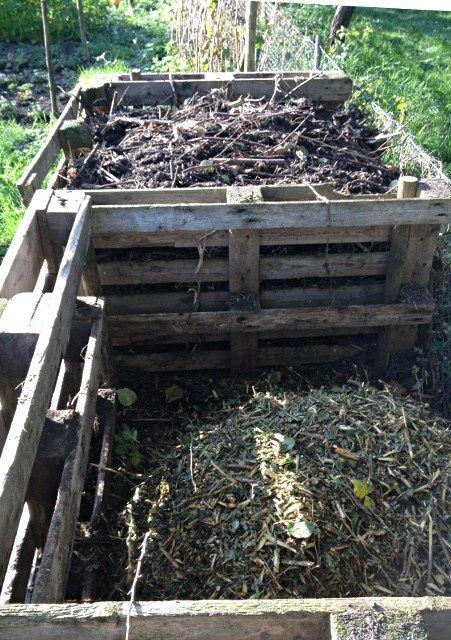compostbakken van pallets
