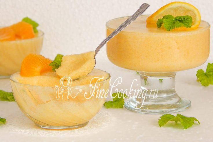 Мусс из консервированных персиков