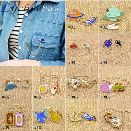 Fashion Jewelry Retro Chain Brooch Pin Beatiful Wedding Brooches For Women