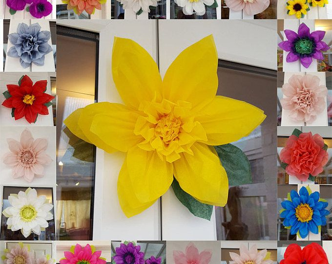 Narciso de pompom papel flor 28cm lugar decoraciones pieza central wedding