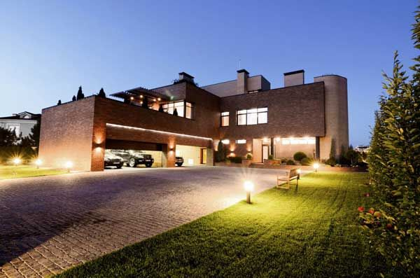 Apartments, Natural Exterior Design Modern Lighting Architects Houses Photo Residential Architect Garage Car Brick Wall Windows Courtyard Random Stone Floor Architectural Interior: Excellent, Kiev Residence Built With Locally Resourced Materials