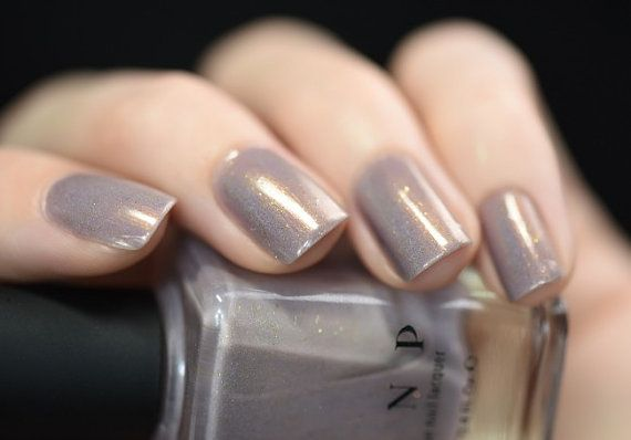 Long Walks Shimmery Taupe Holographic Nail Polish by ILoveNP