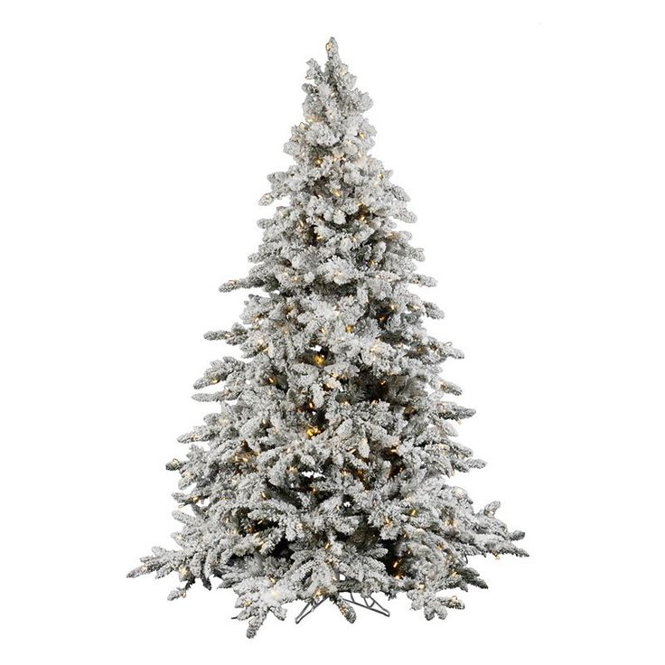 LOVE THIS TREE!!! If only it werent over $1,000 :( Utica Flocked Pre-lit LED Christmas Tree $1034.99