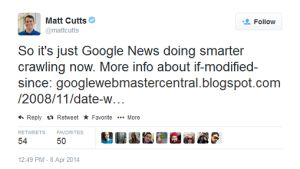 Matt Cutts Tweeted News Sites May Have Experienced Fall in GoogleBot Crawling in March