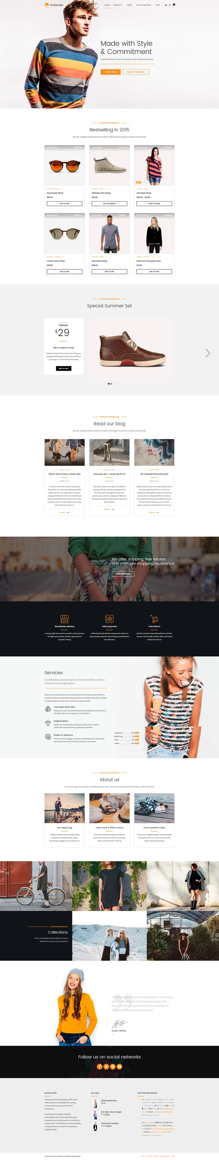Shopscape is a #WordPress #Theme exclusively built for single product, shop, store and eCommerce websites. It is fully Responsive, Retina Ready and Easy to customize. #website #design #template