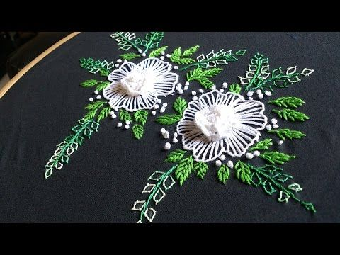 Hand embroidery designs. Brazilian embroidery. cast on stitch. - YouTube