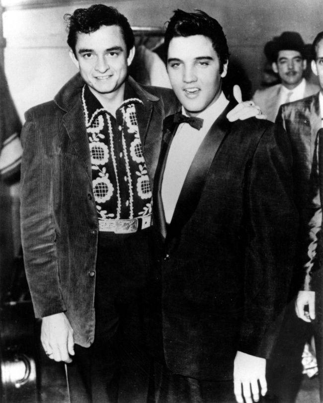 Elvis Presley y Johnny Cash en Memphis, 1957