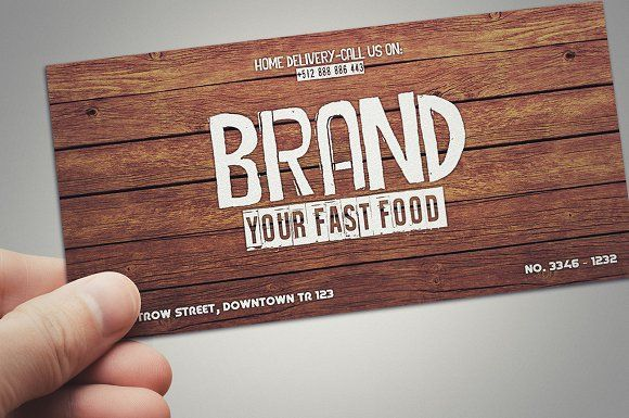 Fast food restaurant gift card  @creativework247